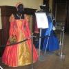 Orange Silk Masquerade Gown