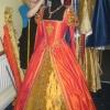 Julia creating an Orange Masquerade Gown