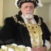 Henry VIII in Black Velvet Robe