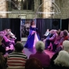 Queen Anne Boleyn Blue Silk Gown