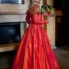 orange-silk-gown-at-belsay