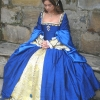 Anne Boleyn Blue Silk Gown