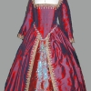 Red/Purple Silk 'Mary Queen of Scots' style Gown