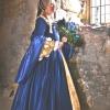 Tudor Wedding Gown in Velvet