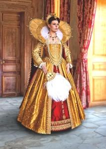 Gold Elizabeth I Gown