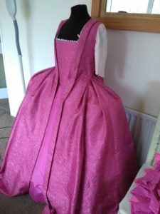 My Pink Silk Marie Antoinette Gown