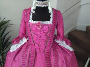 Pink Silk Court Gown