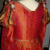 Back View of Orange Silk Gown