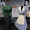 Joan Crawford\'s costume as \'Mildred Pierce\' and Kim Novak\'s suit worn in \'Vertigo\'