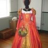 Orange Silk Gown Costume