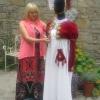 Julia with her \'Jane Austen Costume\'