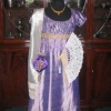 Lilac Silk Evening Gown