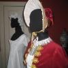 Regency Bonnet worn with Red Velvet Spencer Jacket