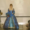 Mary Queen of Scots style blue silk gown