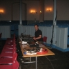 Kevin -our excellent Sound Technician preparing for the Show