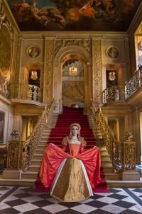 Orange Silk Tudor Gown
