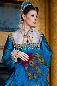 Mary Queen of Scots Peacock Gown Resized