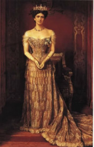 Lady Curzon in Peacock Gown