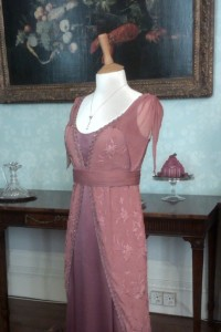 Lady Edith Dusky Pink Evening Dress