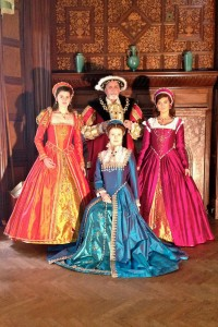 Costumes include Henry VIII, Catherine Howard, Mary Queen of Scots and an Orange Silk Court Gown