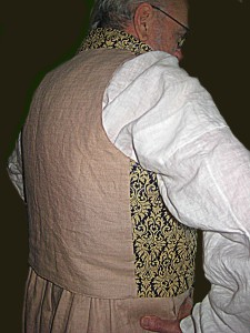 ViBack View of Waistcoat - in Linen Fabric