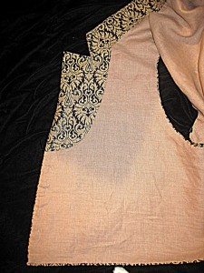 Inside of front Showing Silk Collar Facing