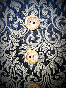 Detail of Fabric with Buttons