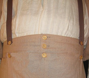 Trouser with Flap Front