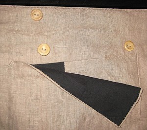 Pocket Flap open to show lining