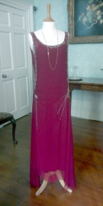 Lady Mary Burgundy Chiffon Dress