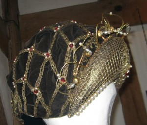 Anne Boleyn Headdress Side View